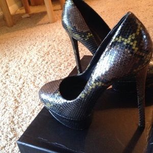 Brian Atwood Fontanne Snakeskin shoes